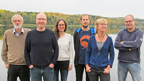 First meeting of the review team, October 2015. From left: Claes Bernes, James Bullock, Maj Rundlöf, Simon Jakobsson, Regina Lindborg and Kris Verheyen. (Maj Rundlöf participated in the production of the systematic map but does not work with the current systematic review.) Photo: Anna Waldenström.
