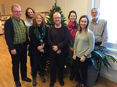The review team, November 2016. From left to right: Jari Kouki, Neal Haddaway, Gill Petrokofsky, Bengt Gunnar (Bege) Jonsson, Jacqualyn Eales, Jessica Taylor, Claes Bernes. Photo: Sif Johansson.