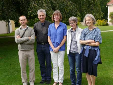 The review team at a meeting in August 2013. From left to right: Emanuele Lugato, Thomas Kätterer, Katarina Hedlund, Ingrid K. Thomsen, and Louise E. Jackson. Helene Bracht Jørgensen and Neal Haddaway are missing in this picture. Photo: Sif Johansson.