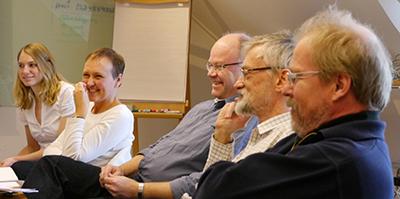 Utbildning i februari 2014. Från vänster: Matilda Miljand, Helene Bracht Jørgensen, Jon Moen, Cales Bernes och Per Larsson. Foto: Anna Metzger.
