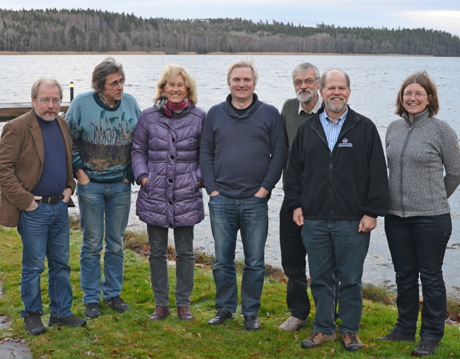The review team at a meeting in December 2013. From left to right: Per Larsson, Lennart Persson, Ellen Van Donk, Christian Skov, Claes Bernes, Steve Carpenter and Anna Gårdmark. Photo: Matilda Miljand.