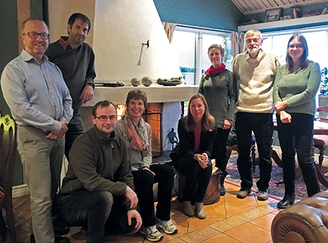 The review team in November 2016. From left: Bengt Gunnar Jonsson, Jörg Müller, Asko Lõhmus, Ellen Macdonald, Jennie Sand­ström, Kaisa Junninen, Claes Bernes, Biljana Macura. Photo: Steningevik.